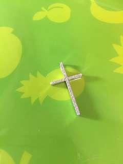 ❤️❌✨ 18K天然鑽石十字架 ✨❌❤️