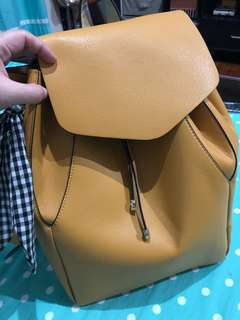 Zara yellow/mustard backpack