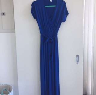 Blue maxi dress small