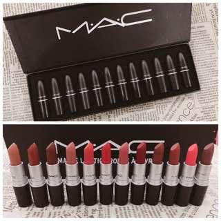 Mac Matte Lipstick 12 set