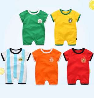 Baby short-sleeved romper World Cup