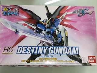 2006 Destiny Gundam ZGMF-X42S 1/144 HG GUNDAM SEED-命運高達模型一盒 EXPO 彩色 透明 限定版 (只限天水圍西鐵站面交)