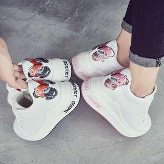 🚚 【週末女孩】日韓 潮流隱形內增高蝴蝶休閒鞋 百搭少女運動鞋 兩色可選 SH043