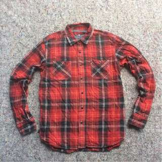 AVAIL LONG SHIRT ORIGINAL CHAMBRAY FLANNEL RED