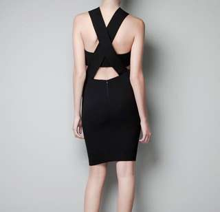 INSTOCK Authentic Zara Cut Out Bandeau Bodycon Cocktail Dress