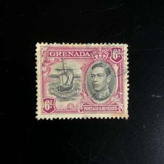 Stamp - Grenada 1938 - King George VI 6d
