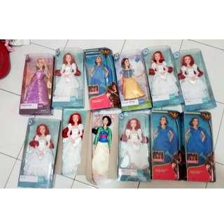 New Barbie dolls and Disney Dolls