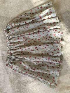 Floral skirt (w shorts underneath)