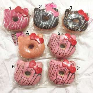 hello kitty donut squishy