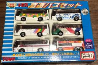 Tomica Tomy 高速巴士 set 全新