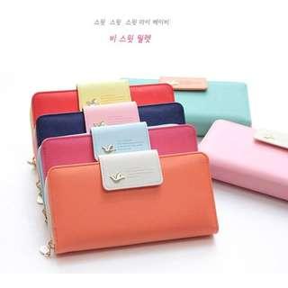 K-Wallets Colorful Zip Long