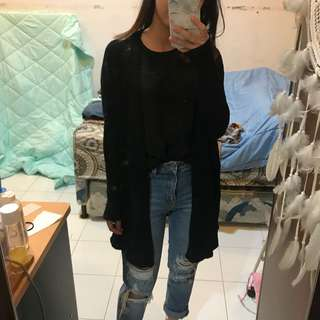 Black knitted Pull & Bear