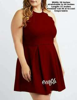 Plus size cut out halter dress