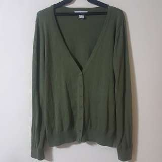 Forever 21 Olive Green Cardigan
