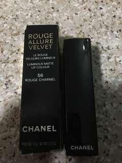 Chanel Rouge Allure Velvet 56 Rouge Charnel lipstick 唇膏