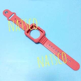 Apple Watch 42mm 橙紅色 運動型 防撞 全包 strap 膠 錶帶