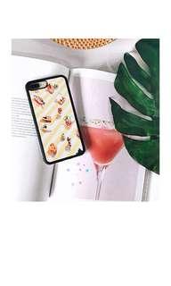 Market Yellow White Stripe Case with Bumper iPhone 8 Plus