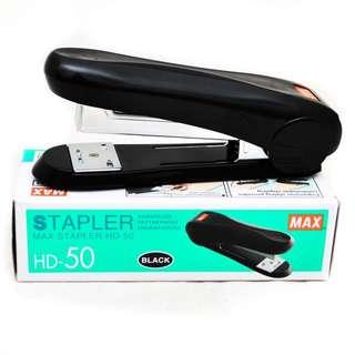日本進口文具 Max 美克司 HD-88R 訂書機 釘書機 Stapler B8書機 拱形針 拆釘器 起釘器 黑色 大型釘書機 大號