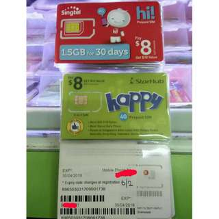 Ready Stock Singapore Pre-Registered Sim Card For Sales