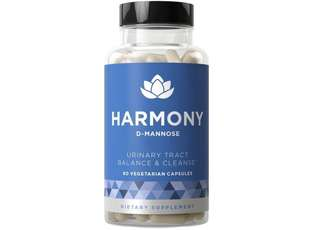 [IN-STOCK] Eu Natural HARMONY D-Mannose - Urinary Tract Cleanse & Bladder Health - Fast-acting Potency, Strong Lasting Protection, Clean Impurities, Clear System - 60 Vegetarian Soft Capsules
