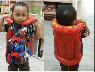 childrens inflatable swimming life jacket vest baby boy girl swimming equipme