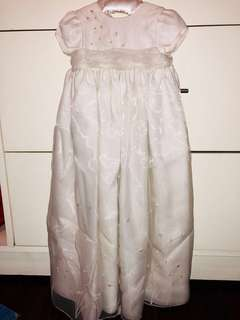 Beaded Baptismal gown with cap and dress cover