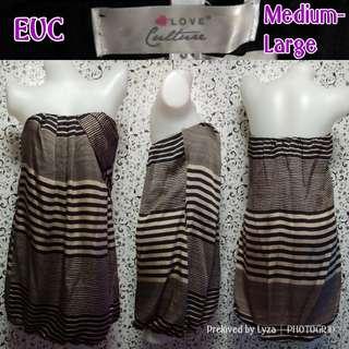 Brown striped dress