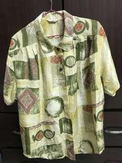🚚 古著襯衫🧡超級美是很適合夏天涼爽材質