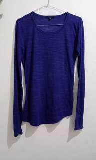 Baju tangan panjang biru tua