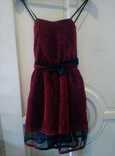 SALE! Glittery Dress Red