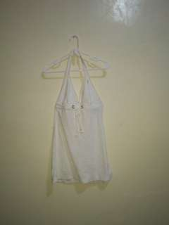 RL White terry cloth halter cover-up