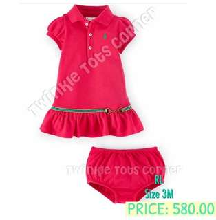 Authentic Ralph Lauren dress with diaper cover