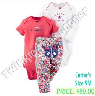 Carter's Three piece set onesie