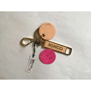 Mimco Zip Line Keyring Orange Sorbet