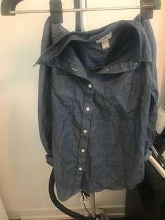 Loft Striped Shirt size M