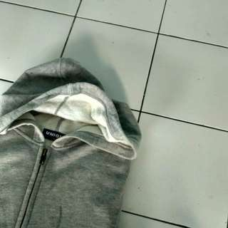 Hoodie zipper uniqlo (misty)