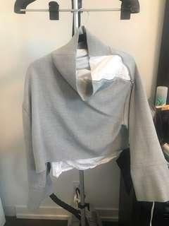 Zara high neck cowled shirt size L