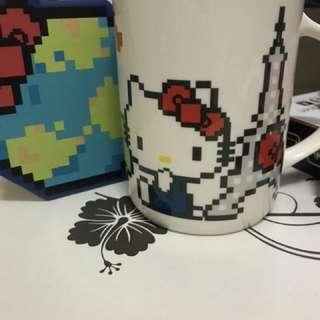 Broadway 百老匯 hello kitty mug with coaster 連杯墊