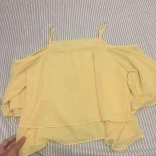 Yellow Summer Crop Top