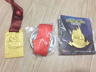 Medals from virtual run