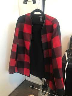Plaid Poncho one size