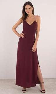 Wine ball dress