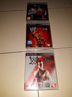 3 wrestling ps3 games ( W '13 / W2k14 and W2k15 )