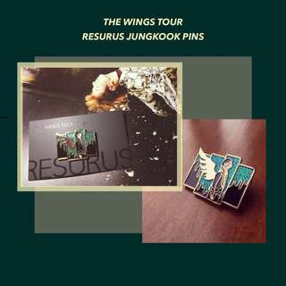 BTS Wings Tour Sets Jungkook Enamel Pin