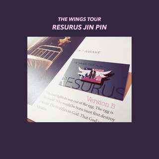 BTS Wings Tour Set Jin Enamel Pin