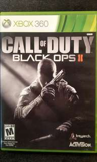 Xbox 360 Call Of Duty Black Ops II