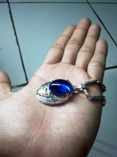 Kalung titanium king safir blue royal kereen