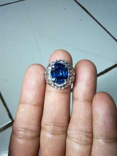 Batu cincin king safir blue royal