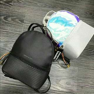 CHARLES&KEITH Mess detail backpack