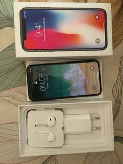 Iphone x grey 256gb ibox resmi